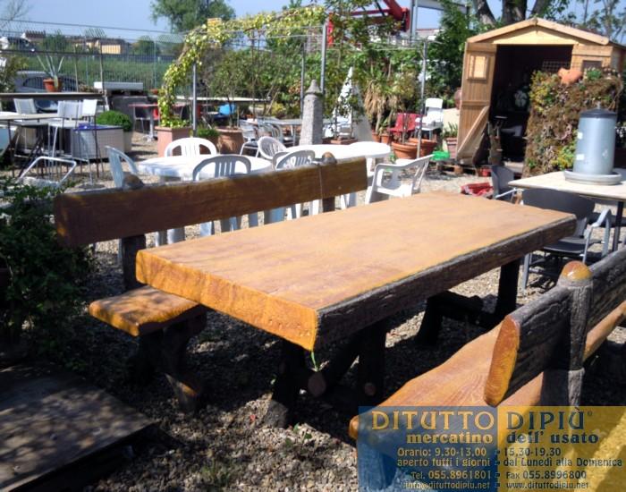 Panchine Da Giardino Usate : Tavolo da esterno con due panche dituttodipiu mercatino dell